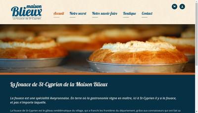 Site internet de Maison Blieux