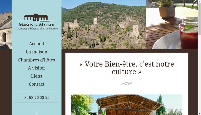 Capture d'écran du site de La Maison de Margot