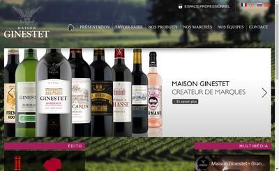 Site internet de Maison Ginestet Sa