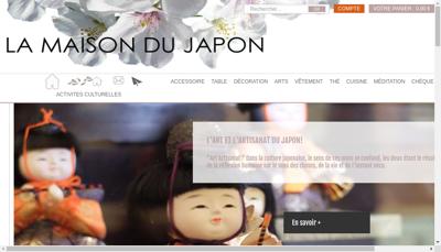 Capture d'écran du site de La Maison du Japon