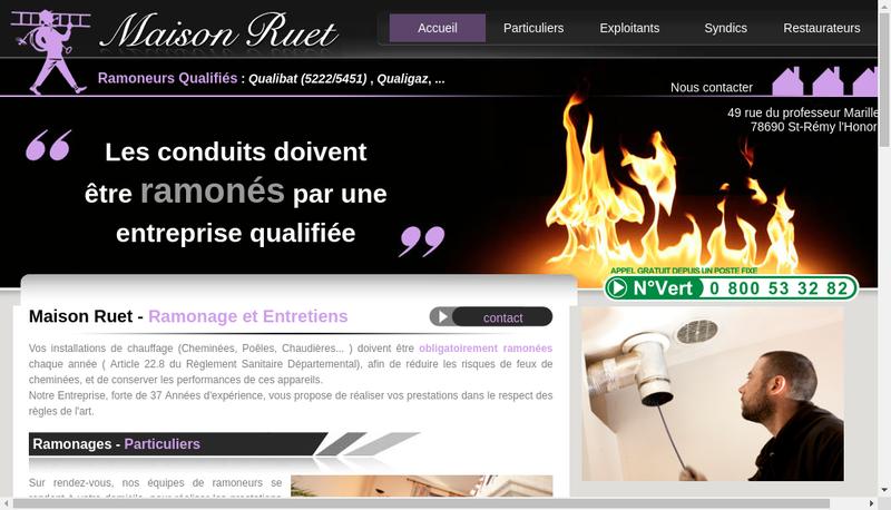 Capture d'écran du site de Maison Ruet