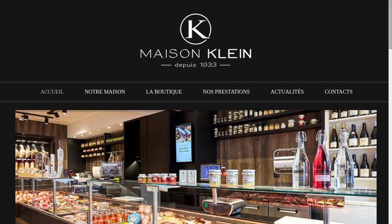 Capture d'écran du site de Maison Klein