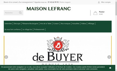 Site internet de Maison Lefranc
