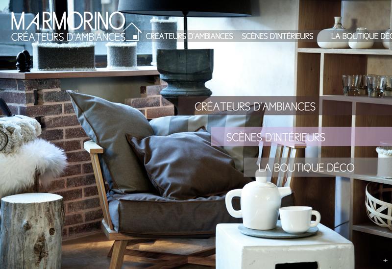 Capture d'écran du site de Marmorino
