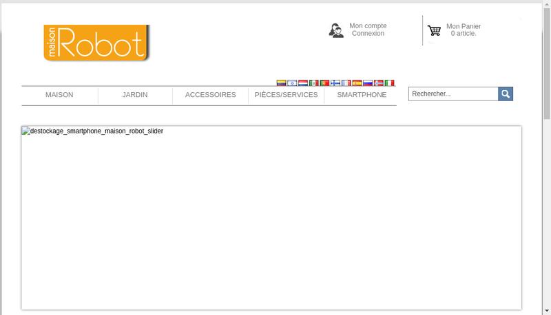 Capture d'écran du site de Maison Robot