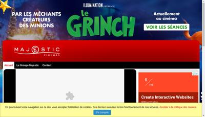 Capture d'écran du site de Majestic