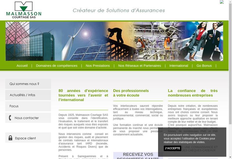 Capture d'écran du site de Malmasson Courtage