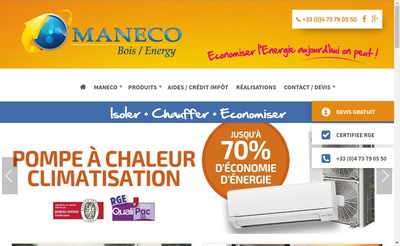 Site internet de Maneco