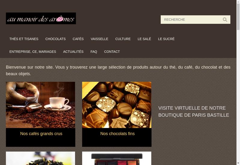 Capture d'écran du site de Au Manoir des Aromes