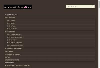 Site internet de Au Manoir des Aromes