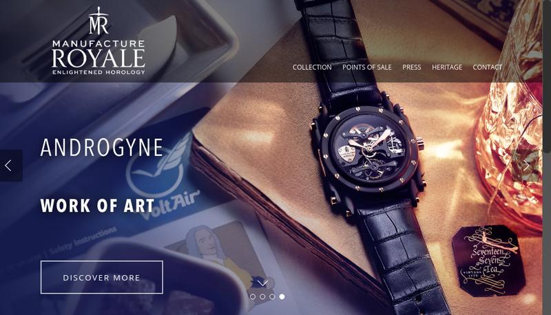 Capture d'écran du site de Manufacture Royale Bonvallet