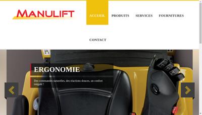 Capture d'écran du site de Manulift