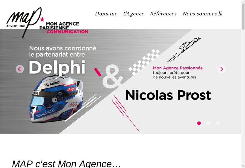 Capture d'écran du site de MAP