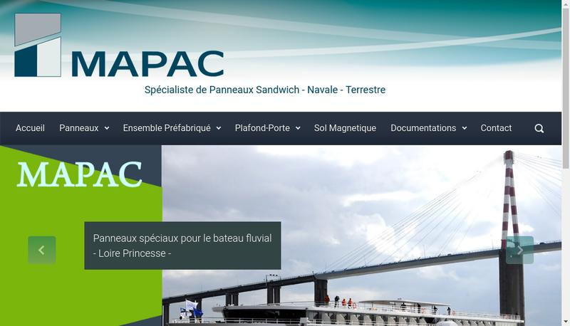 Capture d'écran du site de Mapac Panel