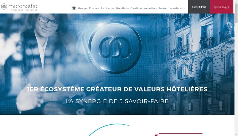 Capture d'écran du site de Maranatha Hotels et Residences