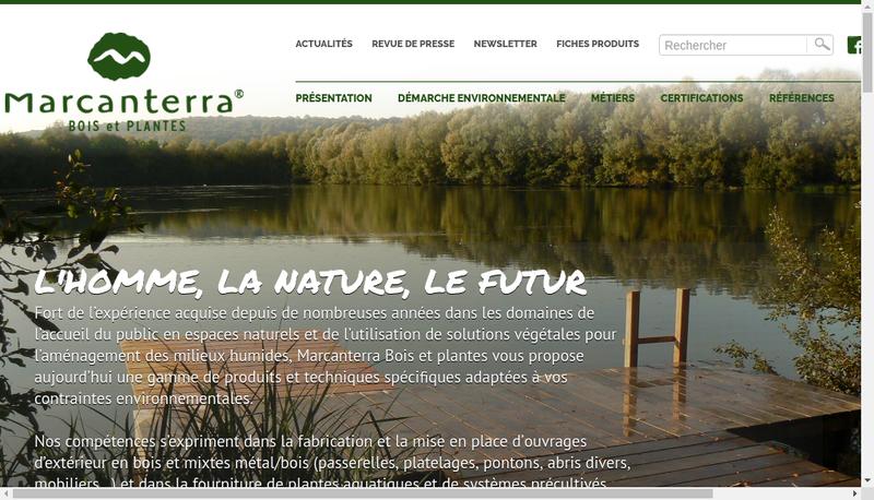 Capture d'écran du site de Marcanterra