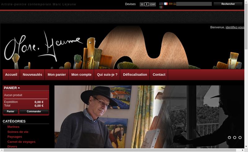 Capture d'écran du site de Marc Lejeune