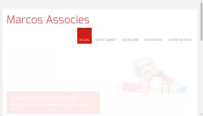 Capture d'écran du site de Cabinet Marcos et Associes