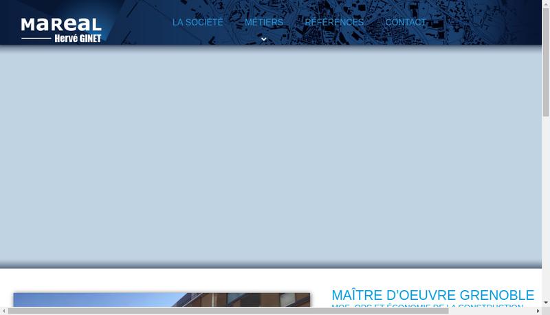 Capture d'écran du site de Mareal