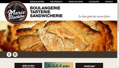 Site internet de Boulangerie Marie Blachere