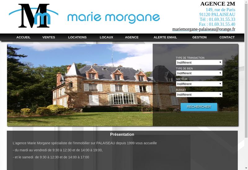 Capture d'écran du site de Agence 2M