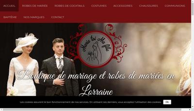 Capture d'écran du site de Marie Toi Ma Fille