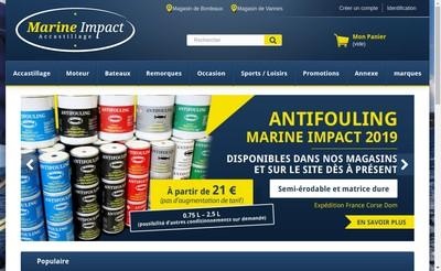 Site internet de Marine Impact