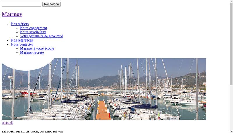 Capture d'écran du site de Marinov
