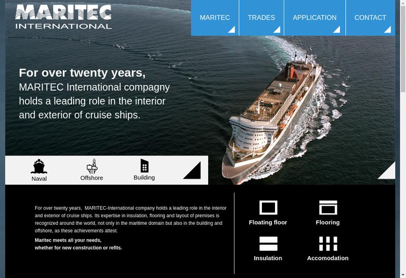 Capture d'écran du site de Maritec International