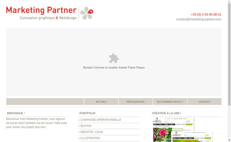 Capture d'écran du site de Marketing Partner