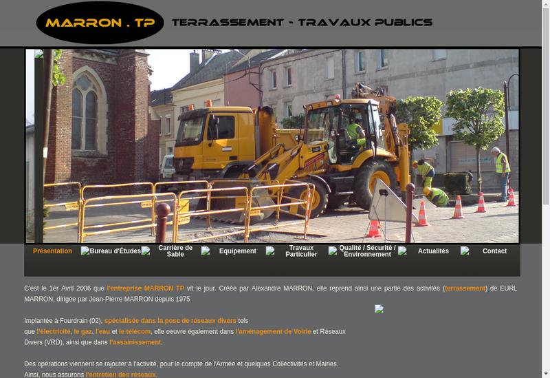 Capture d'écran du site de Marron TP