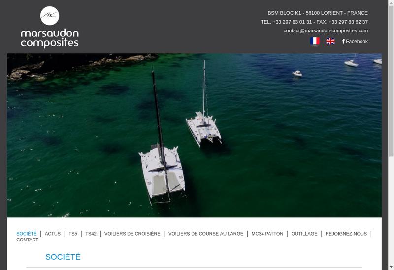 Capture d'écran du site de Marsaudon Composites