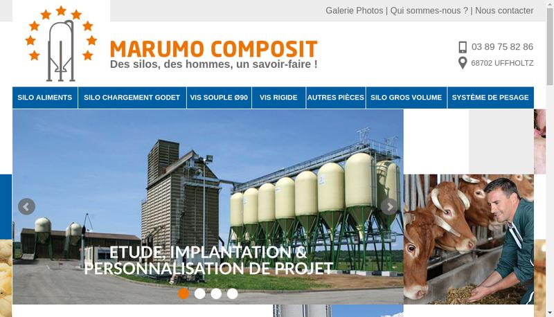 Capture d'écran du site de Marumo Composit