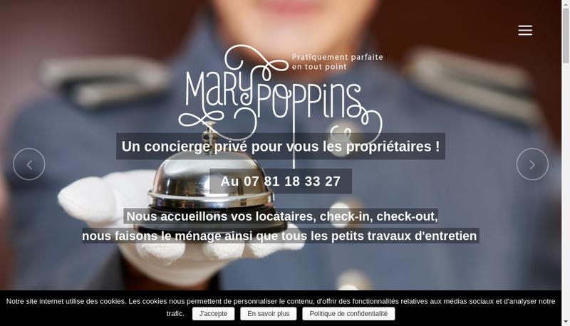 Capture d'écran du site de Marie Poppins