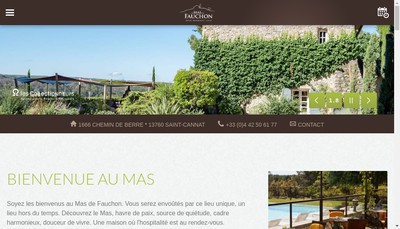 Site internet de Mas de Fauchon