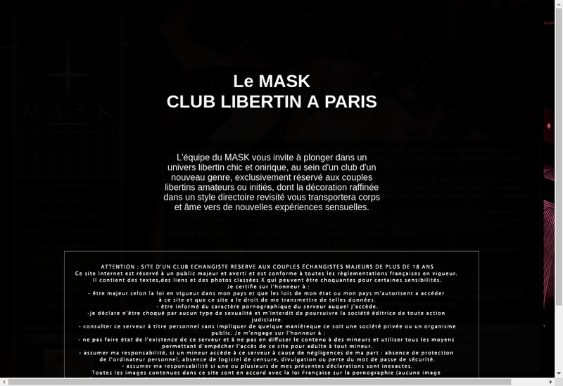 Capture d'écran du site de MASK