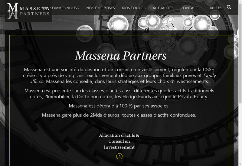 Capture d'écran du site de Massena Partners