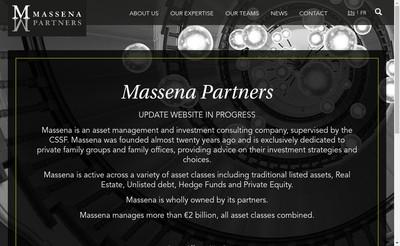 Site internet de Massena Partners