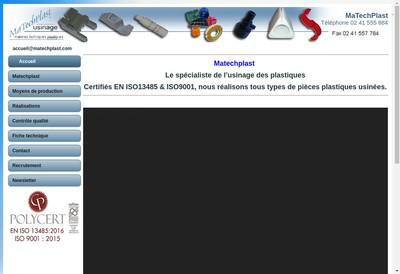 Site internet de Matechplast