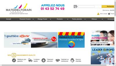 Capture d'écran du site de Hbe Distribution