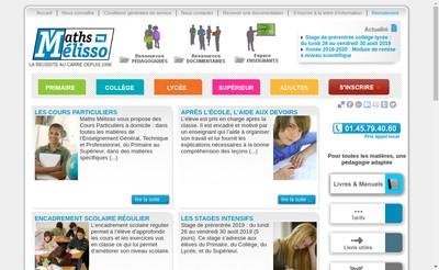 Site internet de SARL Maths Melisso