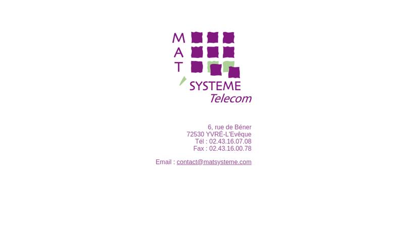 Capture d'écran du site de Mat'Systeme Telecom