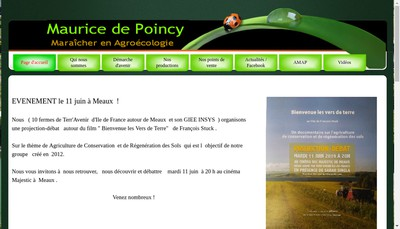 Site internet de GAEC Maurice de Poincy
