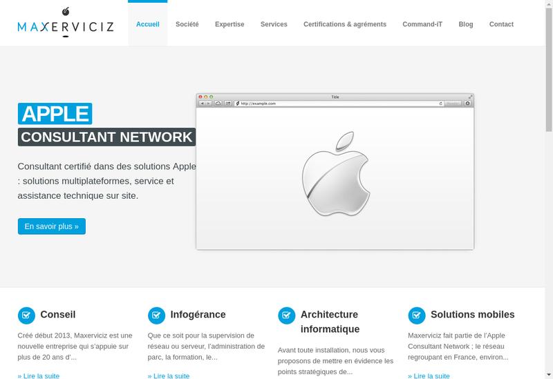 Capture d'écran du site de Maxerviciz