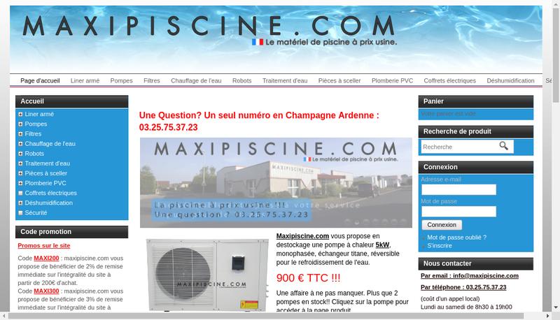 Capture d'écran du site de Spark In