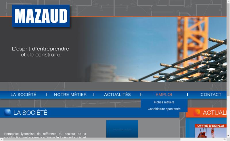 Capture d'écran du site de Mazaud Entreprise Generale