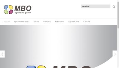 Capture d'écran du site de SARL Mbo Informatique