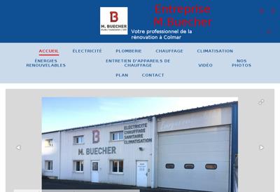 Capture d'écran du site de Electricite Marcel Buecher