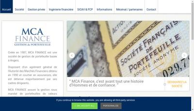 Site internet de Mca Finance