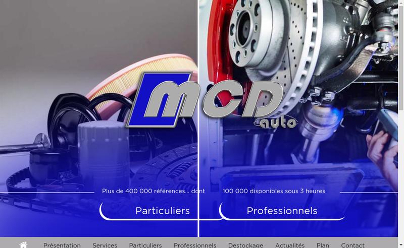 Site internet de Mcd Auto